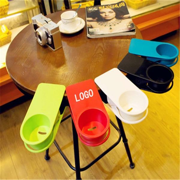 Table Desk Side Cup Saucer Clip