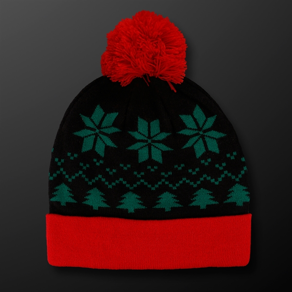 Light Up Christmas Beanie Hat