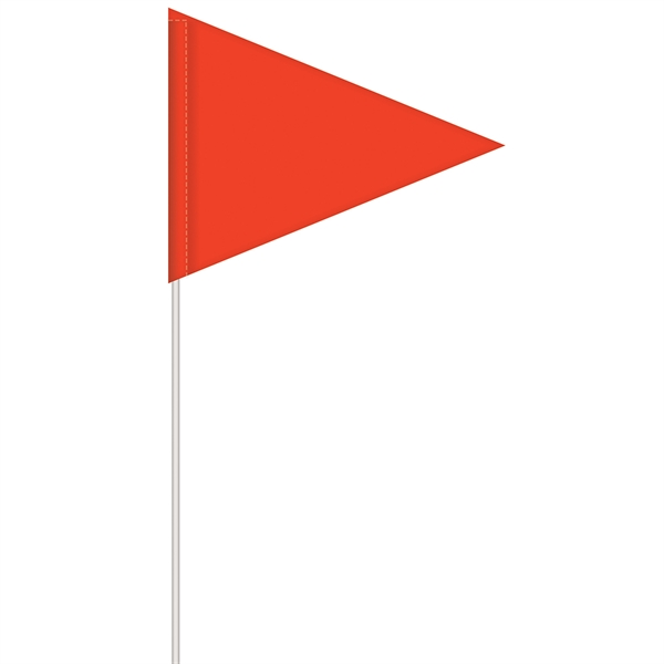 Solid Color Pennant Field Flag with Whit
