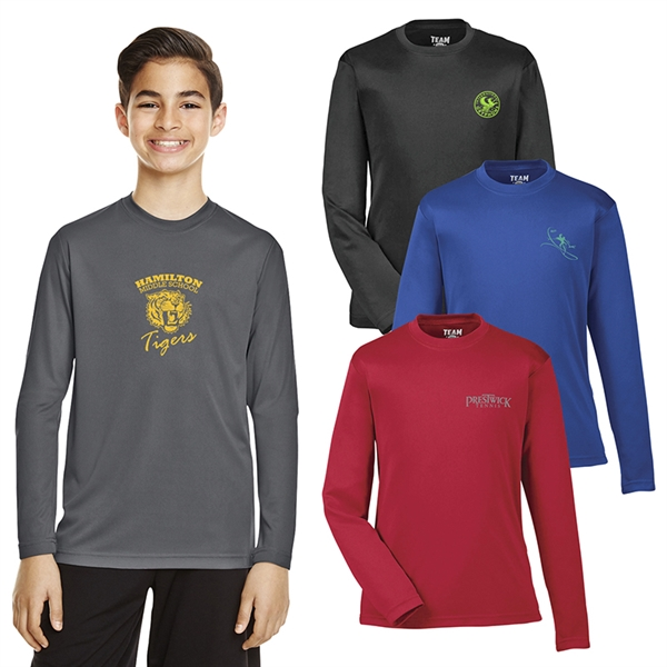 Team 365® Youth Zone Performance Long-Sleeve T-Shirt