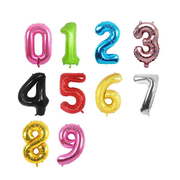 Foil Number & Letter Balloon mix color