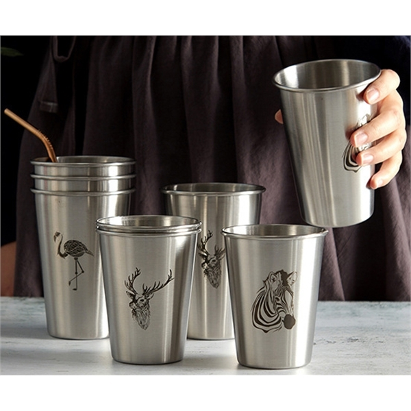12oz stainless steel cup  beer cup drinking cup