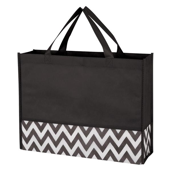 Zigzag Non-Woven Tote Bag