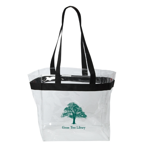 THE STADIUM CLEAR VINYL TOTE