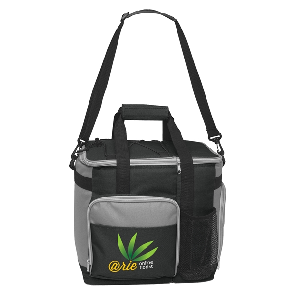 Large Kooler Tote Bag - Large Insulated Kooler Tote. Holds Up To 24 Cans. 2 Separate Insulated Compartments.