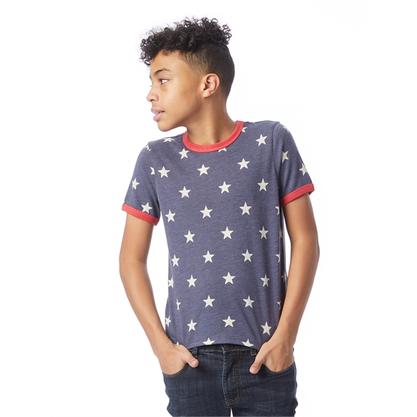 Eco-Jersey Printed Ringer Youth Tee
