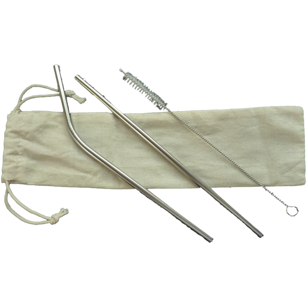 Stainless Steel Straw 5pc set