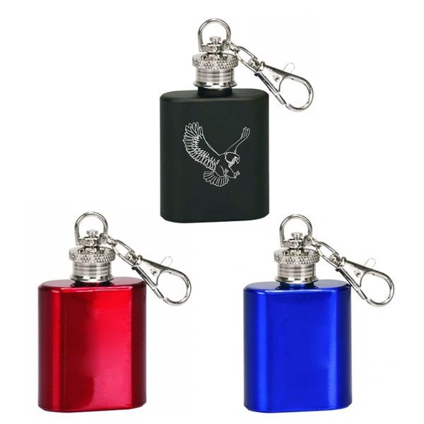 Mini Flask Steel Key Chain Colors