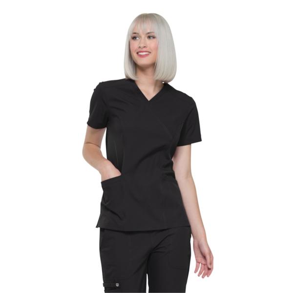 Elle Medical Apparel Mock Wrap Top
