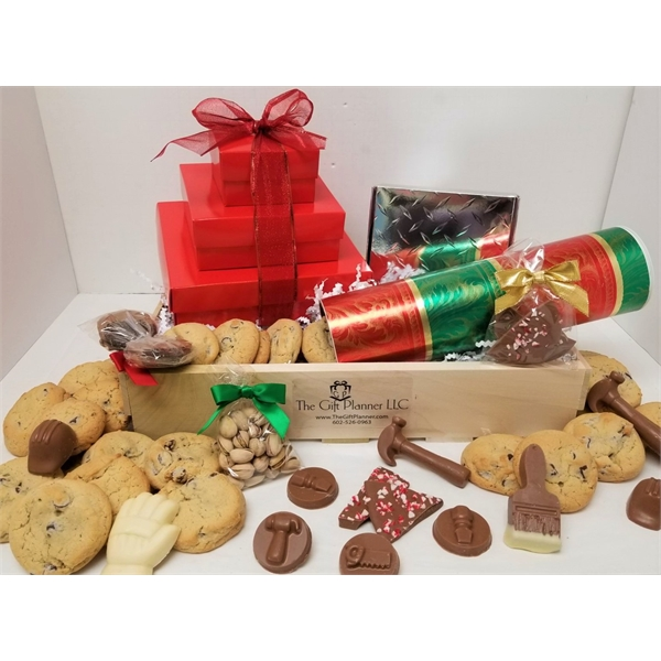 Chocolate Construction Themed Create-A-Crate Gift