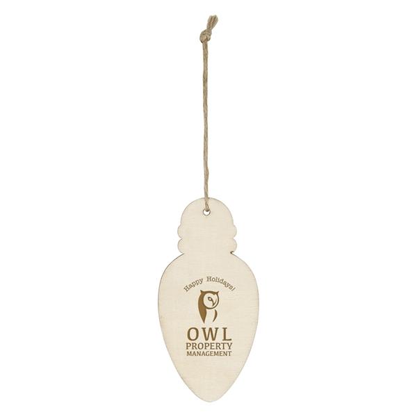 Wood Ornament - Bulb