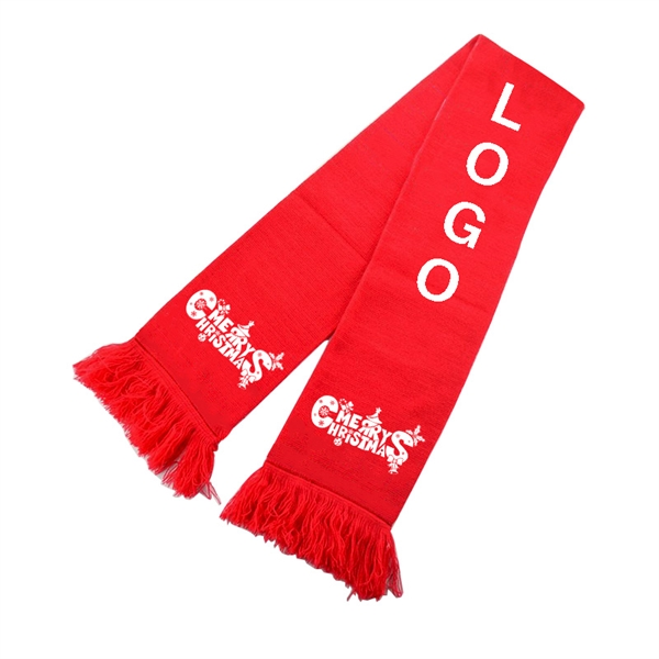 Merry Christmas Winter Scarf With Logo
