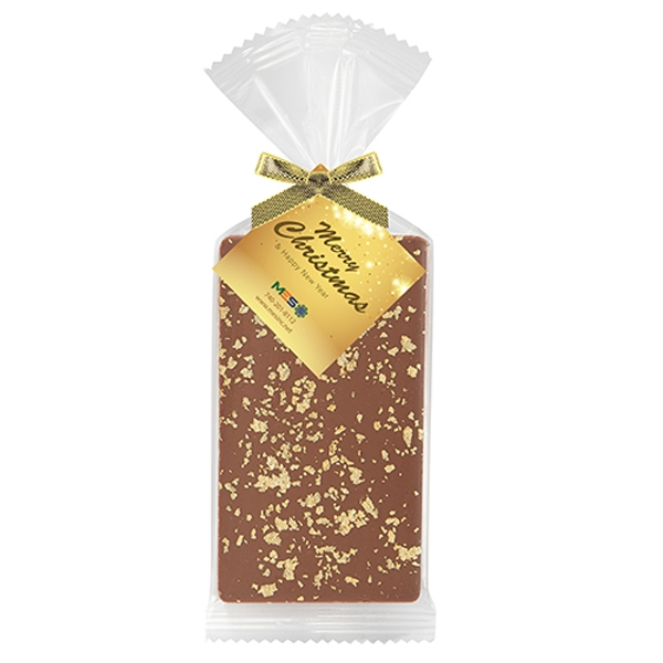 Belgian Chocolate Bar Gift Bag - 23K Gold Flakes