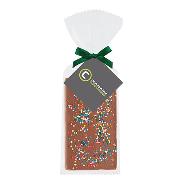 Belgian Chocolate Bar Gift Bag - Rainbow Nonpareil Sprinkles