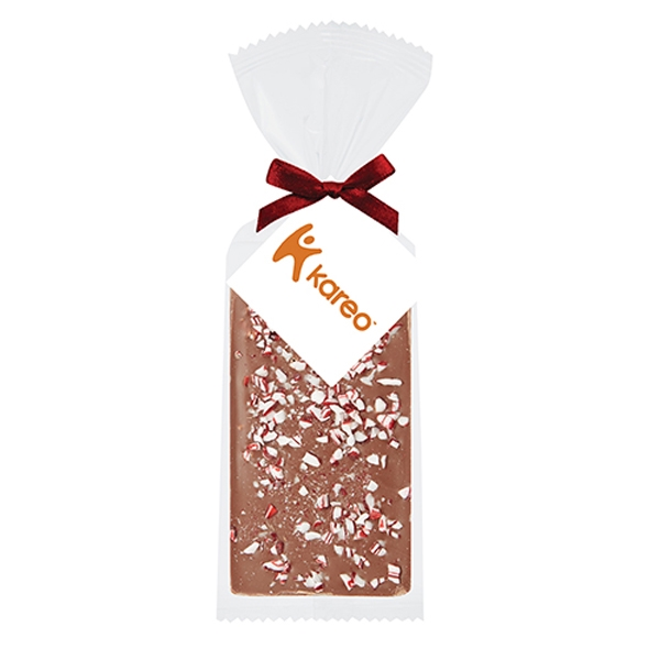 Belgian Chocolate Bar Gift Bag - Crushed Peppermint