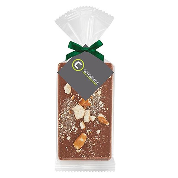 Belgian Chocolate Bar Gift Bag - Salted Pretzels