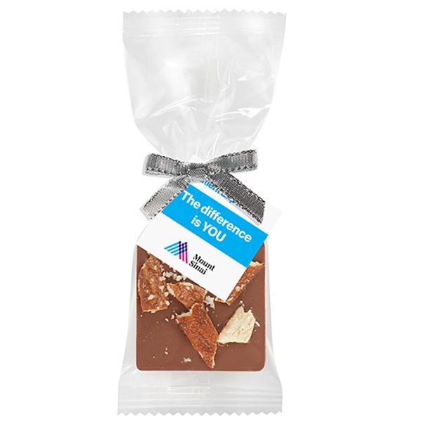 Bite Size Chocolate Square Gift Bag - Salted Pretzels