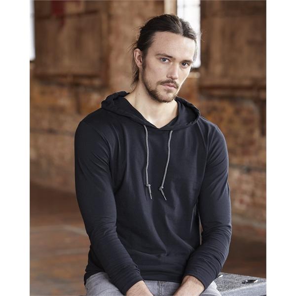 Anvil Lightweight Hooded Long Sleeve T-Shirt