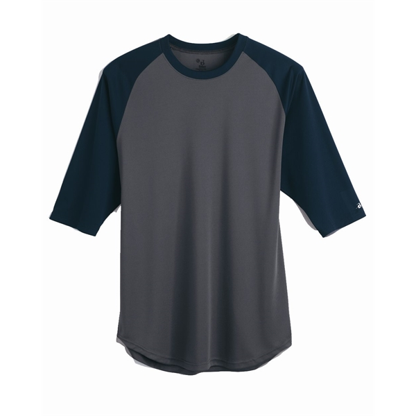 Badger B-Core Three-Quarter Sleeve Baseball T-Shirt