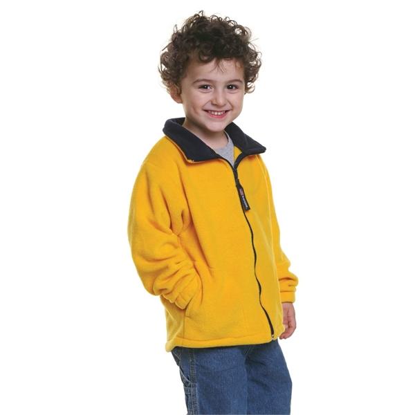 Bayside Youth USA-Made Full-Zip Fleece Jacket