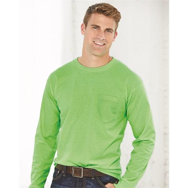 Bayside USA-Made Long Sleeve T-Shirt wit