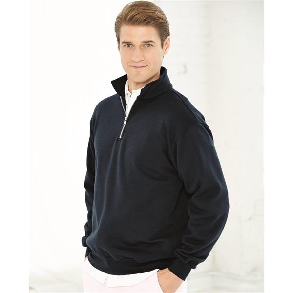 Bayside USA-Made Quarter-Zip Pullover Sweatshirt