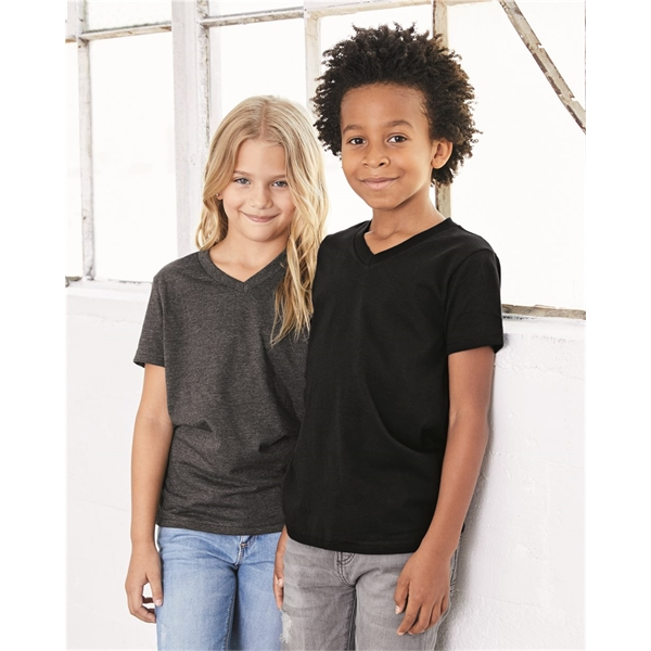 BELLA + CANVAS Youth V-Neck Jersey Tee