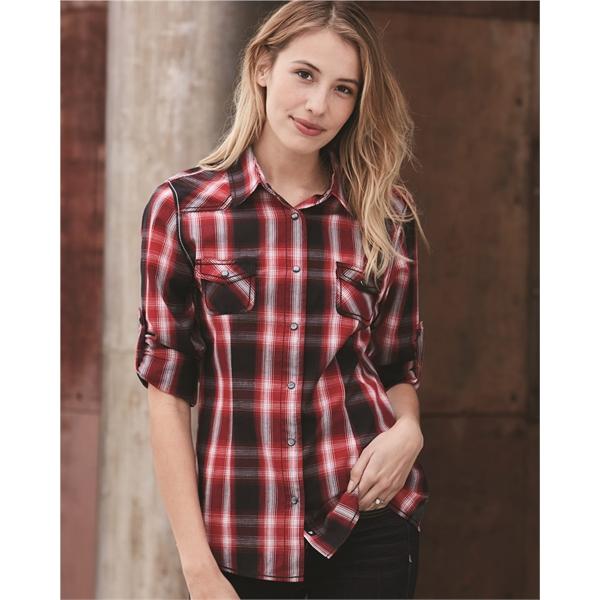 Burnside Women's Convertible Sleeve Western Shirt