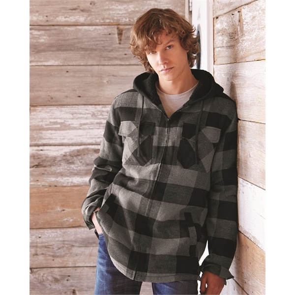 Burnside Quilted Flannel Full-Zip Hooded