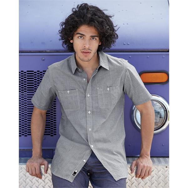 Burnside Mini-Check Short Sleeve Shirt