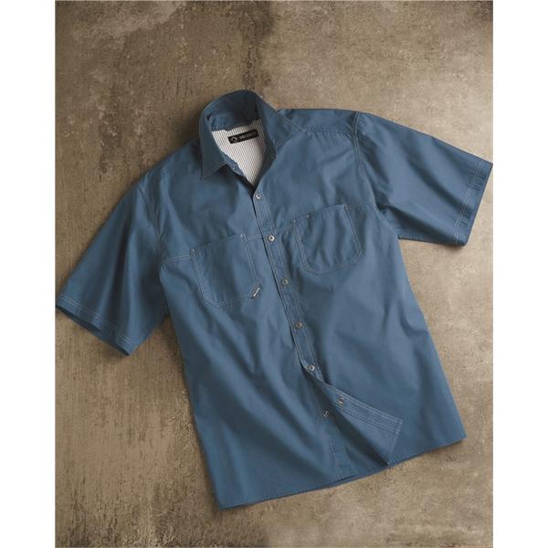 DRI DUCK Guide Cotton Poplin Short Sleeve Shirt