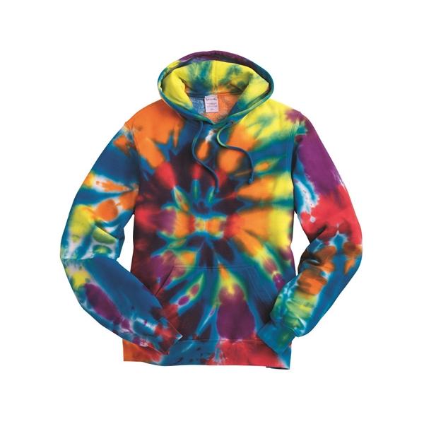 Dyenomite Rainbow Multi-Color Cut-Spiral Hooded Sweatshirt