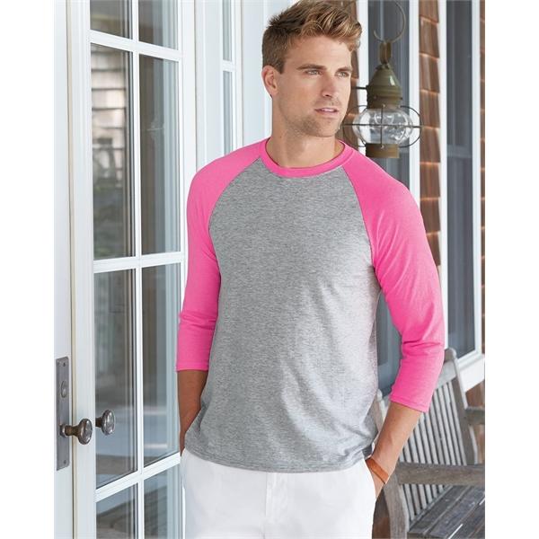 Hanes X-Temp® Three-Quarter Raglan Sleeve Baseball T-Shirt