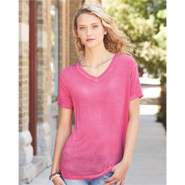J. America Women's Oasis Wash V-Neck T-S