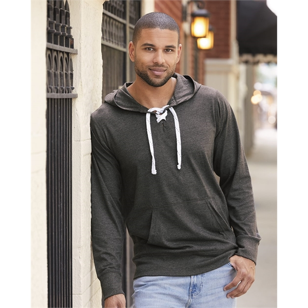 J. America Jersey Sport Lace Hooded Pull