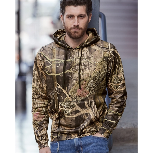 J. America Polyester Tailgate Hooded Swe