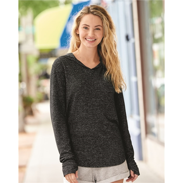 J. America Women's Cozy Jersey Hooded Pullover