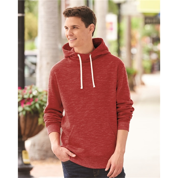J. America Melange Fleece Hooded Sweatshirt