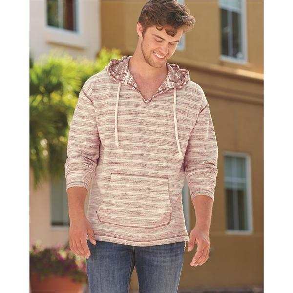 J. America Baja French Terry V-Neck Hood