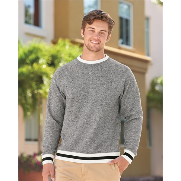 J. America Peppered Fleece Crewneck Sweatshirt