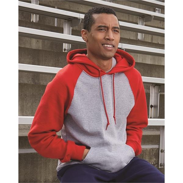 Russell Athletic Dri Power® Colorblock Raglan Hooded Swea...