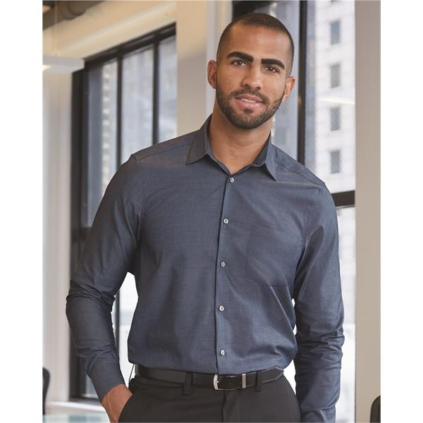 Van Heusen Chambray Spread Flex Collar Shirt