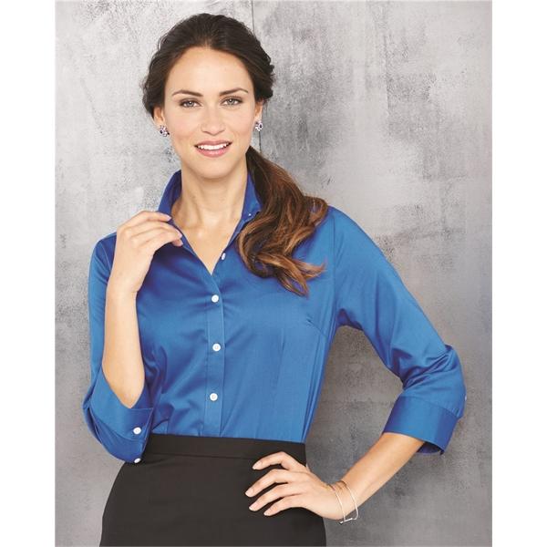 Van Heusen Women's Three-Quarter Sleeve Baby Twill Shirt