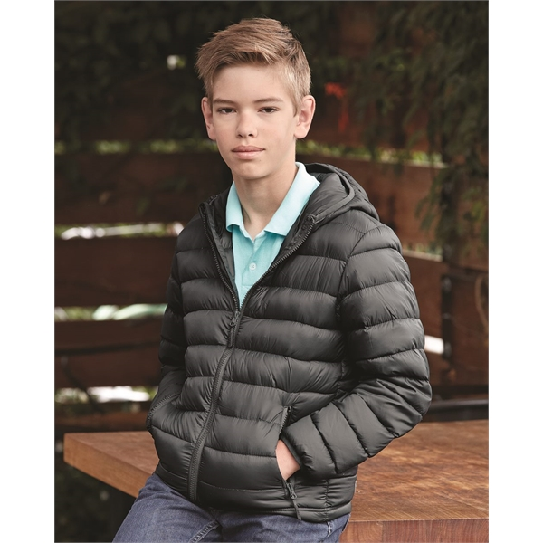 Weatherproof Youth 32 Degrees Packable Hooded Down Jacket