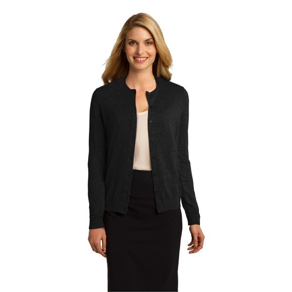 Port Authority Ladies Cardigan Sweater.
