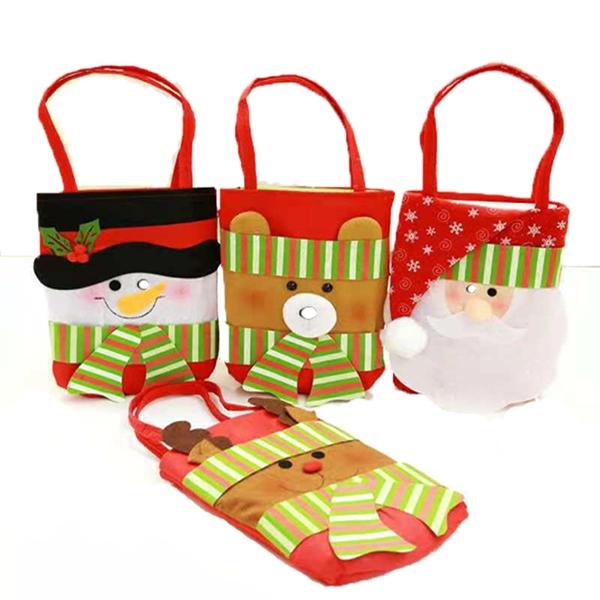 MOQ100pcs Tote Bag Handle Shopping Bag, Christmas Gift