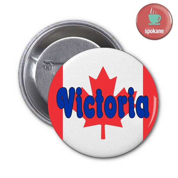 Promotional Round Pin-back Button Low Budget