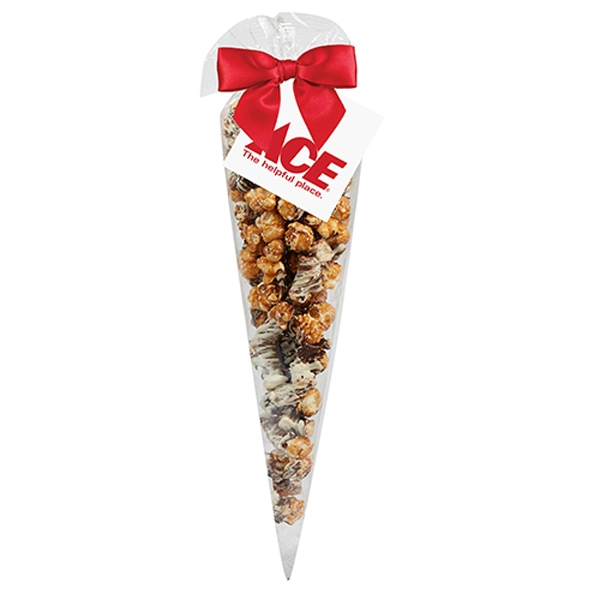 Large Chocolate Pretzel Popcorn Cone Bags