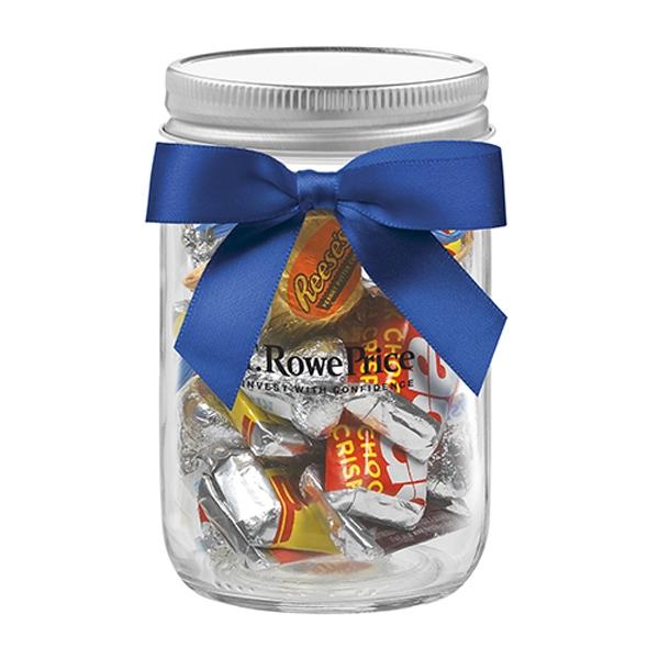 12 oz Mason Jar w/ Grosgrain Ribbon - Hershey's® Everyday
