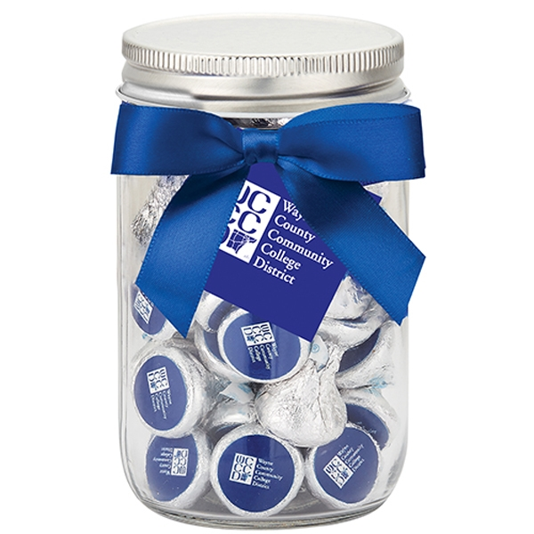 Mason Jar with Custom Hershey's® KISSES®